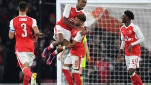 Арсенал не подцени Купата на Лигата и продължава напред, Окслейд-Чембърлейн над всички (видео)