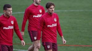 Черчи вече тренира с Атлетико