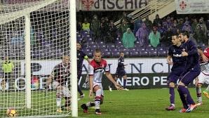 Късен гол спаси Фиорентина срещу Кротоне, Тонев не игра (видео)