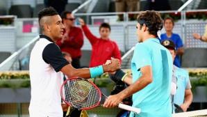 Федерер има какво да каже за Кирьос