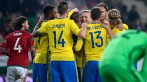 Швеция наказа Унгария като гост в последния мач на легендата Габор Кирай (видео)