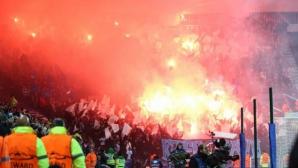 Вижте как феновете на Копенхаген надъхаха отбора за мача с Порто (видео)
