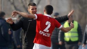 ЦСКА 1948 тренира на базата на Румен Чандъров, засече се с ЦСКА-София (видео)