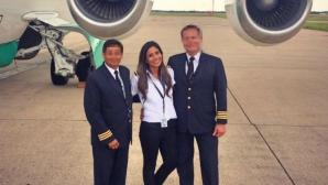 Бивш модел за първи път втори пилот във фаталния полет