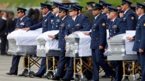 Тленните останки на загиналите край Меделин бяха изпратени в Бразилия