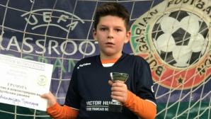 Малък талант отива на лагер в школата на Барселона