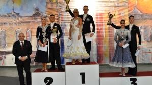 Министър Кралев и кметът на Русе Пламен Стоилов наградиха победителите в откритото световно първенство по стандартни танци