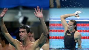 Фелпс и Хосшу са най-добрите плувци в света за 2016 г.