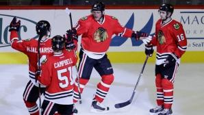 Чикаго се изравни с Монреал на върха в НХЛ