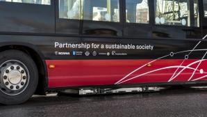 Scania тества безжично зареждащи се автобуси в Швеция