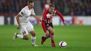 Саутхамптън излетя от Лига Европа след домакински провал (видео)
