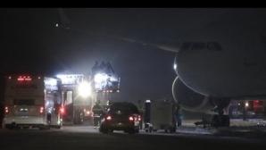 Самолет с футбололен отбор излезе от пистата в САЩ (видео)