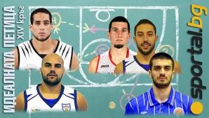 Петицата на Sportal.bg за XIV кръг на НБЛ