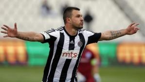 Божинов бележи за Партизан в първата контрола на отбора