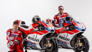 Хорхе Лоренсо облече червения екип и показа новия Desmosedici GP17 (Видео)
