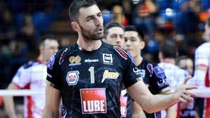 Цецо Соколов с 14 точки, Лубе даде гейм на Вибо Валентия в Италия