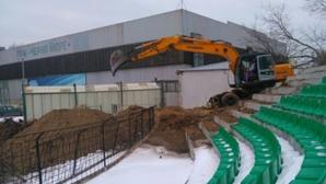"""Възобновиха ремонтните дейности на стадион """"Тича"""""""
