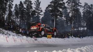 Мадс Остберг остана на метър от рекорд на рали Швеция (Видео)