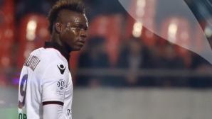 Балотели отново си показа рогата, но Ница удържа победата (видео)