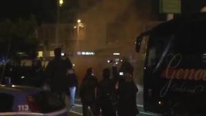 Гневни тифози на Дженоа нападнаха клубния автобус