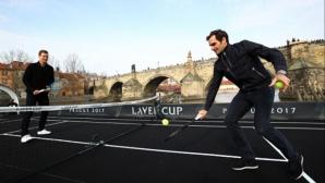 Да играеш срещу Федерер… на лодка (видео)