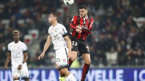 Ница се изравни с Монако на върха в Лига 1, забравен нападател с дубъл