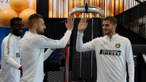 Брозович и Икарди се завръщат за Интер срещу Рома