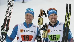 Драма на финала! Крюков и Устюгов триумфираха с отборната титла в ски-бягането (видео)