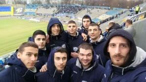 """Волейболният Левски подкрепи футболистите на """"сините"""""""