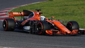 Макларън стартира годината с проблем в двигателя на Хонда след първата обиколка