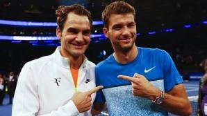 Григор Димитров остава само зад Федерер на пътя за Лондон