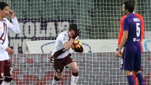 Белоти пропусна дузпа, но после спаси Торино във Флоренция (видео)