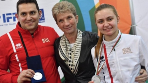 Министър Дашева награди Йоана Илиева със сребро на ЕП по фехтовка в Пловдив