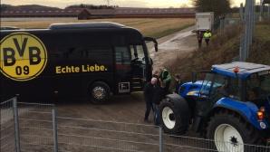 Трактор и проблем с пържените картофи доукрасиха визитата на Дортмунд за купата