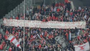 """""""Армейците"""" с плакат срещу правосъдието в България"""
