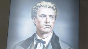 Портрет на Левски краси фоайето на Националия стадион