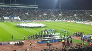 Химнът на Шампионска лига звучи отново гордо на националния стадион
