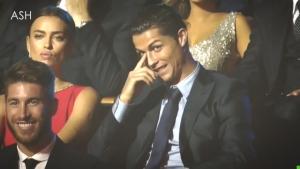 Реакцията на Ирина Шейк след шега за Роналдо