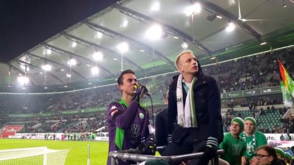 Ето как вратарят на Волфсбург благодари на феновете въпреки загубата от Наполи