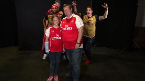 Шоу: Играчите на Арсенал изненадоха феновете си