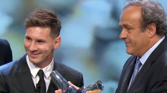 Меси с наградата на УЕФА за най-добър играч за 2014/2015 г.