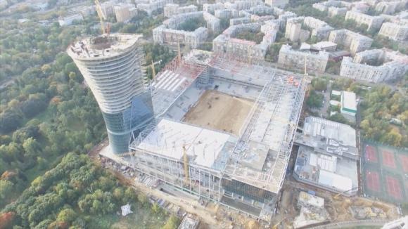 Вижте от птичи поглед строежа на ултра модерния стадион на ЦСКА Москва