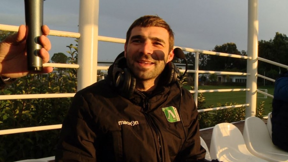 Владо Стоянов загуби бас и коментира мача на Лудогорец