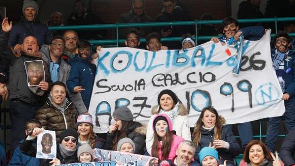 Феновете на Наполи с простест срещу расизма и подкрепа за Калиду Кулибали