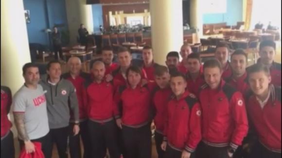Отборът на ЦСКА поздрави Камата за юбилея