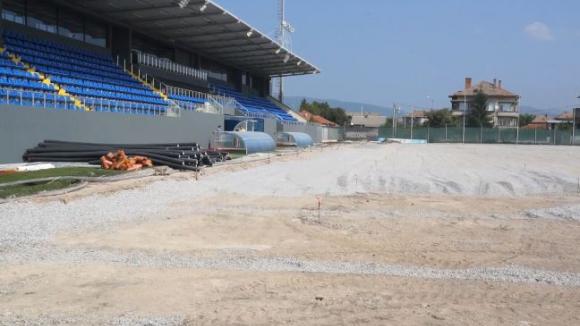 Усилен ремонт на стадиона на Верея