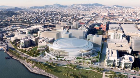 Голдън стейт строи нова зала в Сан Франциско