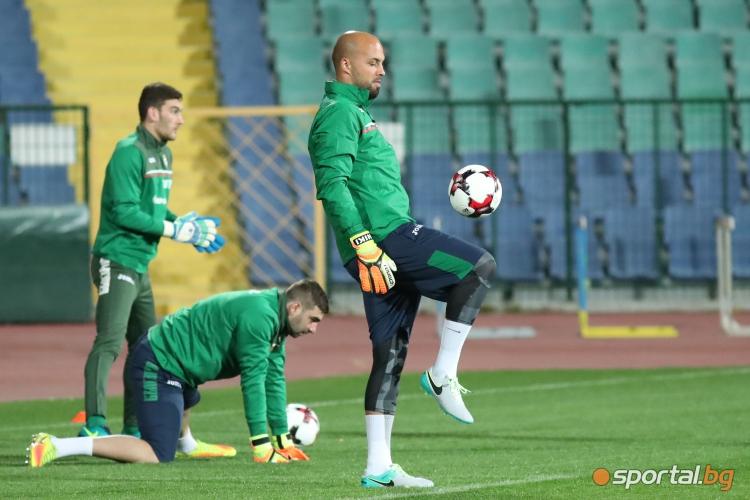 Националите с първа тренировка преди мача с Беларус след седмица