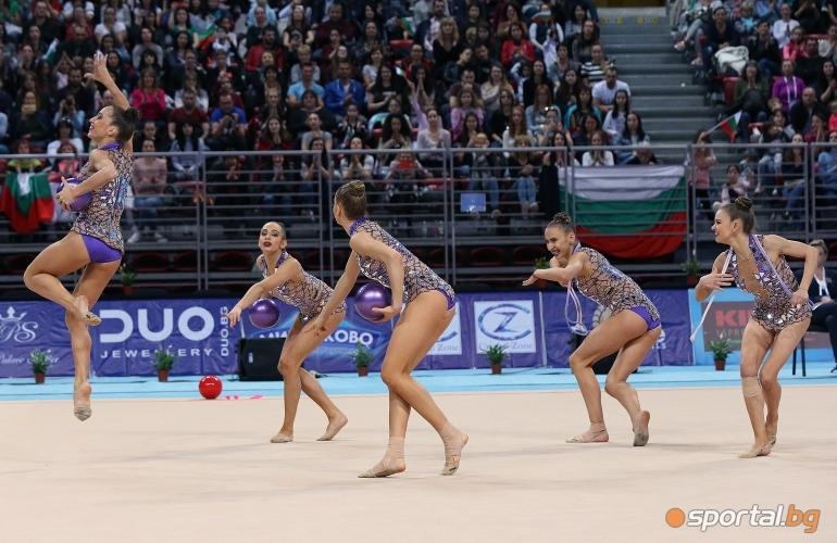 Финално участие на българския ансамбъл на СК по художествена гимнастика