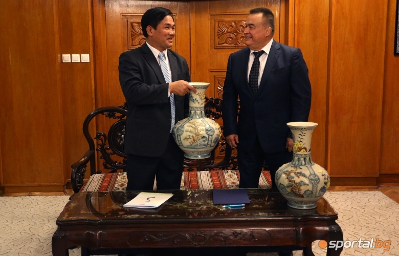 Подписване на меморандум между Българската и Виетнамската федерация по джудо